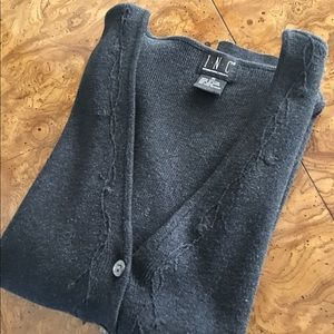 INC Gray Cardigan size M